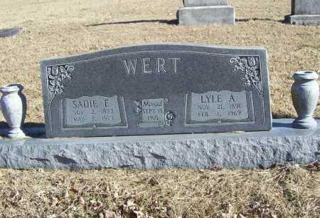 WERT, SADIE E - Benton County, Arkansas | SADIE E WERT - Arkansas Gravestone Photos
