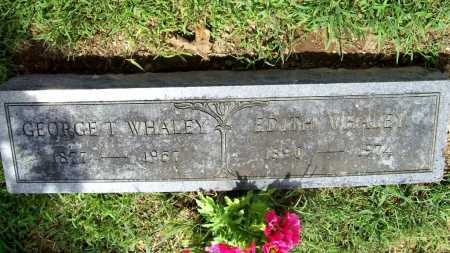 WHALEY, GEORGE T. - Benton County, Arkansas | GEORGE T. WHALEY - Arkansas Gravestone Photos