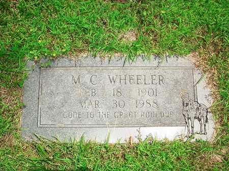 WHEELER, M. C. - Benton County, Arkansas | M. C. WHEELER - Arkansas Gravestone Photos