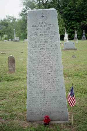 WHINERY (VETERAN 1812)(FAMOUS), ABRAHAM - Benton County, Arkansas   ABRAHAM WHINERY (VETERAN 1812)(FAMOUS) - Arkansas Gravestone Photos