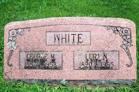WHITE, LURA N. - Benton County, Arkansas   LURA N. WHITE - Arkansas Gravestone Photos