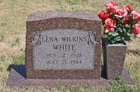 WHITE, LENA WILKINS - Benton County, Arkansas | LENA WILKINS WHITE - Arkansas Gravestone Photos