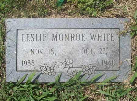 WHITE, LESLIE MONROE - Benton County, Arkansas | LESLIE MONROE WHITE - Arkansas Gravestone Photos