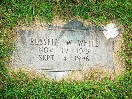 WHITE, RUSSELL W. - Benton County, Arkansas | RUSSELL W. WHITE - Arkansas Gravestone Photos