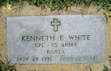 WHITE (VETERAN KOR), KENNETH E. - Benton County, Arkansas | KENNETH E. WHITE (VETERAN KOR) - Arkansas Gravestone Photos