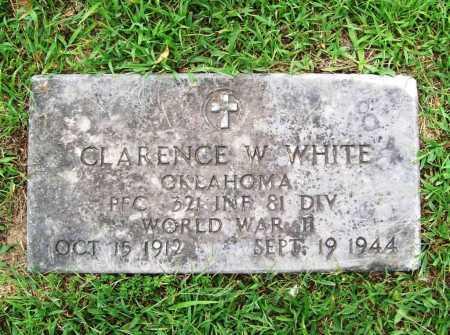WHITE (VETERAN WWII), CLARENCE W - Benton County, Arkansas   CLARENCE W WHITE (VETERAN WWII) - Arkansas Gravestone Photos