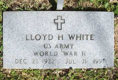WHITE (VETERAN WWII), LLOYD H - Benton County, Arkansas | LLOYD H WHITE (VETERAN WWII) - Arkansas Gravestone Photos