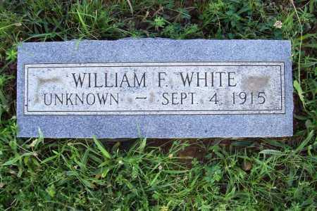 WHITE, WILLIAM F. - Benton County, Arkansas   WILLIAM F. WHITE - Arkansas Gravestone Photos