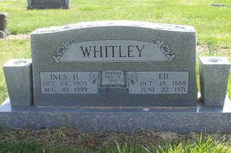 "WHITLEY, WILLIAM EDWARD ""ED"" - Benton County, Arkansas | WILLIAM EDWARD ""ED"" WHITLEY - Arkansas Gravestone Photos"