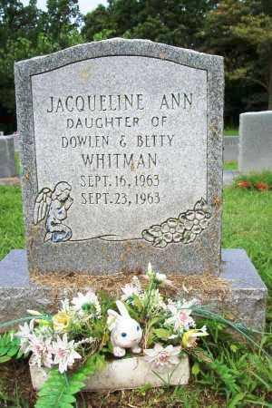 WHITMAN, JACQUELINE ANN - Benton County, Arkansas   JACQUELINE ANN WHITMAN - Arkansas Gravestone Photos