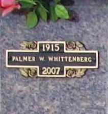 WHITTENBERG, PALMER W. - Benton County, Arkansas | PALMER W. WHITTENBERG - Arkansas Gravestone Photos