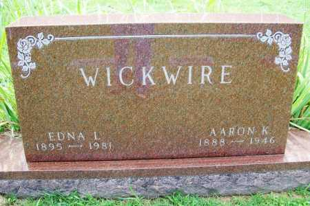 WICKWIRE, EDNA L. - Benton County, Arkansas   EDNA L. WICKWIRE - Arkansas Gravestone Photos