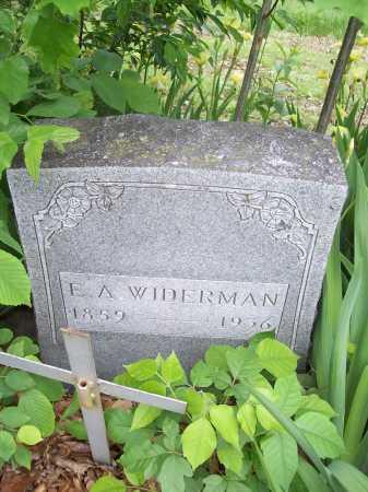 WIDERMAN, E. A. - Benton County, Arkansas | E. A. WIDERMAN - Arkansas Gravestone Photos