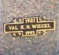WIEGEL, VAL K. N. - Benton County, Arkansas | VAL K. N. WIEGEL - Arkansas Gravestone Photos