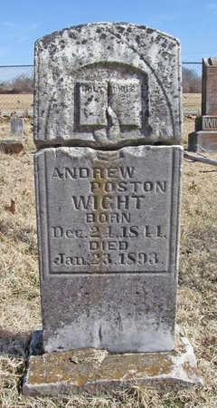 WIGHT, ANDREW POSTON - Benton County, Arkansas | ANDREW POSTON WIGHT - Arkansas Gravestone Photos