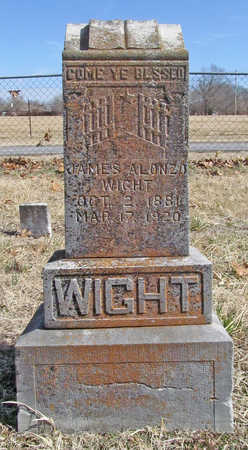 WIGHT, JAMES ALONZO - Benton County, Arkansas | JAMES ALONZO WIGHT - Arkansas Gravestone Photos