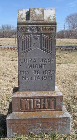 WIGHT, LUIZA JANE - Benton County, Arkansas | LUIZA JANE WIGHT - Arkansas Gravestone Photos