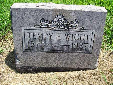 WIGHT, TEMPY E. - Benton County, Arkansas   TEMPY E. WIGHT - Arkansas Gravestone Photos