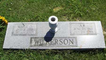 WILKERSON, A. B. - Benton County, Arkansas | A. B. WILKERSON - Arkansas Gravestone Photos