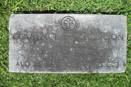 WILKERSON (VETERAN WWI), CLARENCE L. - Benton County, Arkansas | CLARENCE L. WILKERSON (VETERAN WWI) - Arkansas Gravestone Photos
