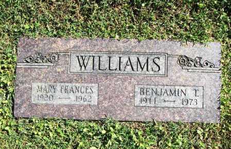 WILLIAMS, MARY FRANCES - Benton County, Arkansas | MARY FRANCES WILLIAMS - Arkansas Gravestone Photos