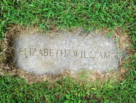 WILLIAMS, ELIZABETH - Benton County, Arkansas | ELIZABETH WILLIAMS - Arkansas Gravestone Photos