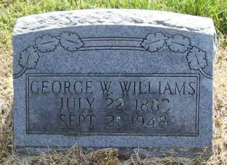 WILLIAMS, GEORGE W. - Benton County, Arkansas | GEORGE W. WILLIAMS - Arkansas Gravestone Photos
