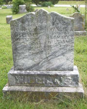 WILLIAMS, HENRY F. - Benton County, Arkansas | HENRY F. WILLIAMS - Arkansas Gravestone Photos