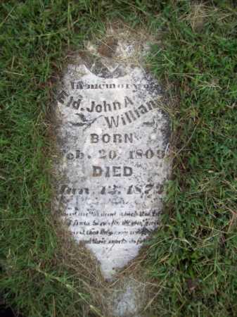 WILLIAMS, JOHN A (ELDER) - Benton County, Arkansas | JOHN A (ELDER) WILLIAMS - Arkansas Gravestone Photos