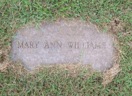 WILLIAMS, MARY ANN - Benton County, Arkansas | MARY ANN WILLIAMS - Arkansas Gravestone Photos