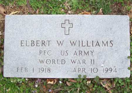 WILLIAMS (VETERAN WWII), ELBERT WEAITMAN - Benton County, Arkansas | ELBERT WEAITMAN WILLIAMS (VETERAN WWII) - Arkansas Gravestone Photos