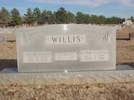 GAILEY WILLIS, THELMA M. - Benton County, Arkansas | THELMA M. GAILEY WILLIS - Arkansas Gravestone Photos