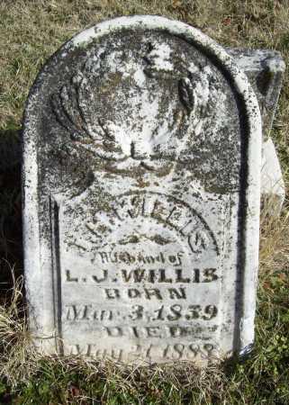 WILLIS, J H - Benton County, Arkansas   J H WILLIS - Arkansas Gravestone Photos