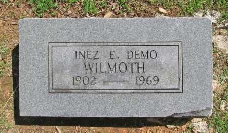 WILMOTH, INEZ E. - Benton County, Arkansas   INEZ E. WILMOTH - Arkansas Gravestone Photos