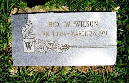 WILSON, REX W. - Benton County, Arkansas | REX W. WILSON - Arkansas Gravestone Photos