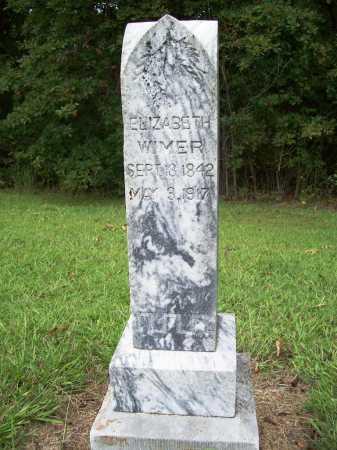 WIMER, ELIZABETH - Benton County, Arkansas   ELIZABETH WIMER - Arkansas Gravestone Photos