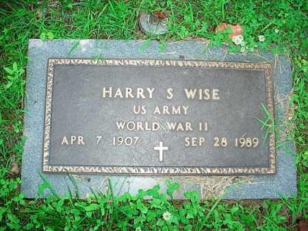 WISE (VETERAN WWII), HARRY S. - Benton County, Arkansas | HARRY S. WISE (VETERAN WWII) - Arkansas Gravestone Photos