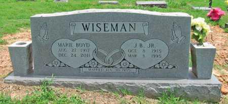 WISEMAN, J B JR - Benton County, Arkansas   J B JR WISEMAN - Arkansas Gravestone Photos