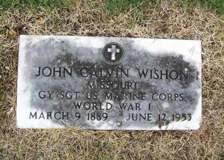 WISHON (VETERAN WWI), JOHN CALVIN - Benton County, Arkansas | JOHN CALVIN WISHON (VETERAN WWI) - Arkansas Gravestone Photos