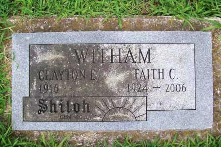 CLOUGH WITHAM, FAITLH - Benton County, Arkansas | FAITLH CLOUGH WITHAM - Arkansas Gravestone Photos