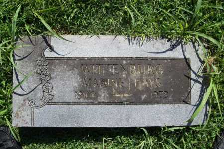 HAYS WITTENBURG, MAXINE - Benton County, Arkansas | MAXINE HAYS WITTENBURG - Arkansas Gravestone Photos