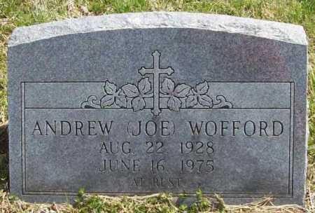 "WOFFORD, ANDREW ""JOE"" - Benton County, Arkansas | ANDREW ""JOE"" WOFFORD - Arkansas Gravestone Photos"