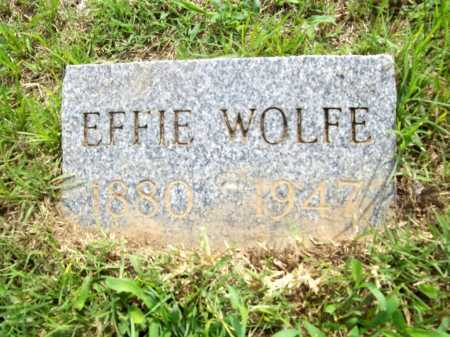 WOLFE, EFFIE - Benton County, Arkansas | EFFIE WOLFE - Arkansas Gravestone Photos