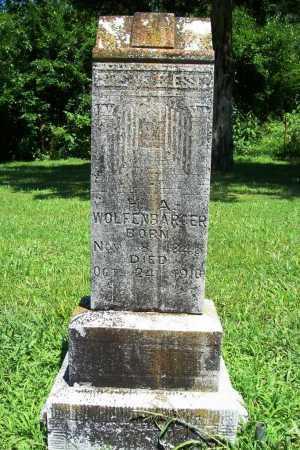 WOLFENBARGER, H. A. - Benton County, Arkansas   H. A. WOLFENBARGER - Arkansas Gravestone Photos
