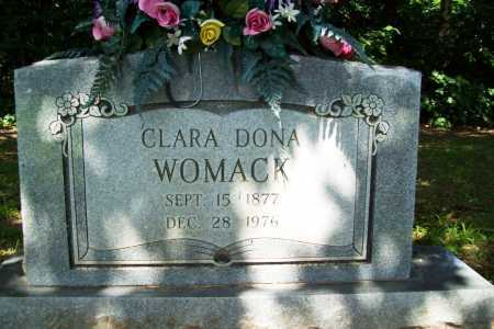 WOMACK, CLARA DONA - Benton County, Arkansas | CLARA DONA WOMACK - Arkansas Gravestone Photos