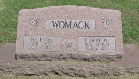 WOMACK, HELEN H. - Benton County, Arkansas | HELEN H. WOMACK - Arkansas Gravestone Photos