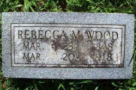 WOOD, REBECCA M. - Benton County, Arkansas   REBECCA M. WOOD - Arkansas Gravestone Photos