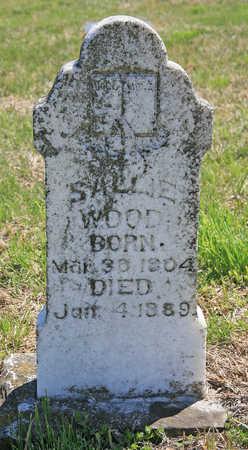 WOOD, SALLIE - Benton County, Arkansas | SALLIE WOOD - Arkansas Gravestone Photos