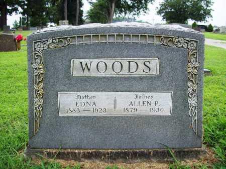 WOODS, EDNA - Benton County, Arkansas | EDNA WOODS - Arkansas Gravestone Photos