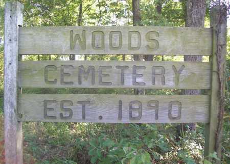 *WOODS CEMETERY SIGN,  - Benton County, Arkansas |  *WOODS CEMETERY SIGN - Arkansas Gravestone Photos